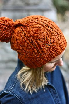 Ravelry: Loden Slouchy pattern by Julia Trice LOVE the huge pom pom. Yarn Projects, Knitting Projects, Knit Mittens, Knitted Hats, Knitting Yarn, Knitting Patterns, Hat Patterns, Knit Or Crochet, Crochet Hats