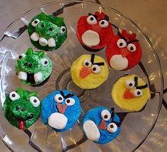 Happy Birthday to my Harrison! :) Original Idea: Idea from http://thecraftingchicks.com/2011/03/angry-birds-cupcakes.html