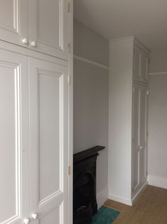 ceiling high alcove wardrobes by Peter Henderson Furniture, Brighton, UK Built In Wardrobe Ideas Alcove, Diy Built In Wardrobes, Diy Fitted Wardrobes, Wardrobes Uk, Bedroom Built In Wardrobe, 1930s Bedroom, Victorian Bedroom, Alcove Cupboards, Bedroom Cupboards