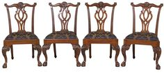 Ball and Claw Foot Dining Chairs
