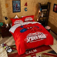 Marvel Ultimate Spider Man Bed in a Bag Twin Queen Size Set | Super Heroes Bedding
