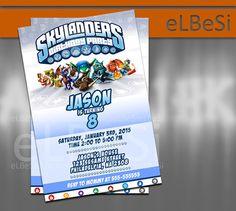 Skylanders Birthday Invitation  - Invitation Card
