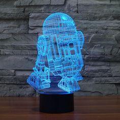 Led Lamps Beautiful Usb Novelty Gift Star War 3d Table Lamp Led Night Light Home Decor Touch Switch Desk Light Bb8 Darth Vader Yoda Batman X-wing