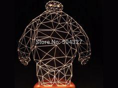 Encontre mais Luzes noturnas Informações sobre 1 peça de alta tecnologia 3D herói 6 Baymax originalidade LED noite lâmpada humor madeira 3D, de alta qualidade máscaras de lâmpada para as luzes de parede, candeeiro de luz China Fornecedores, Barato caneta de luz de GEEK TM em Aliexpress.com