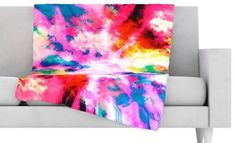 KESS InHouse Catherine Holcombe Pretty in Pink Fleece Baby Blanket 40 x 30