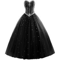 M Bridal Women's Rhinestones Strapless Lace-up Puffy Ball Gown... ($150) ❤ liked on Polyvore featuring dresses, bridal dresses, strapless dresses, puff dress, rhinestone dress and laced dress