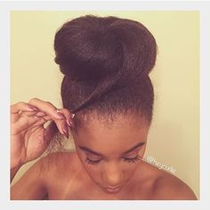 How to : full bun without adding hair