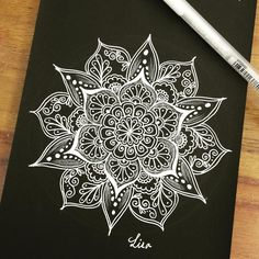 Doodle art ideas draw zentangle patterns 24 Ideas for 2019 mandala Doodle art i… Mandala Doodle, Mandala Art, Mandala Tattoo Design, Croquis Mandala, Doodle Art, Mandala Arm Tattoo, Geometric Tattoo Design, Mandalas Painting, Mandalas Drawing