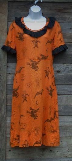1930 Halloween Costume Dress Scarecrows Owls Jack O Lanterns Witches Corn | eBay