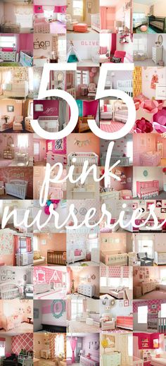 Pink Nursery Ideas - from soft pastels to bold shades, here are the top 55 pink nurseries!   Project Nursery