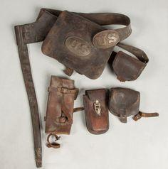 Civil War Cartridge Belt & Boxes : Lot 300