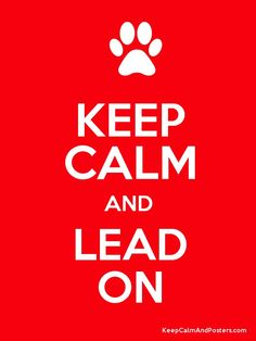 KEEP CALM AND LEAD ON Poster