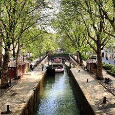 Canal Saint-Martin a Parigi, Île-de-France