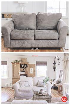 Merveilleux Comfort Works Custom Slipcover Before U0026 After Life Review, Custom Slipcovers,  Sofa Slipcovers,