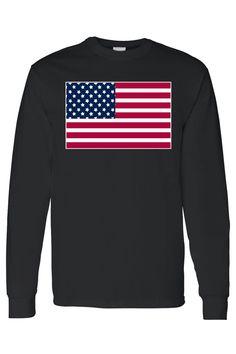 fbacbf41a8f Men's/Unisex United States of America Flag USA Pride Long Sleeve T-shirt