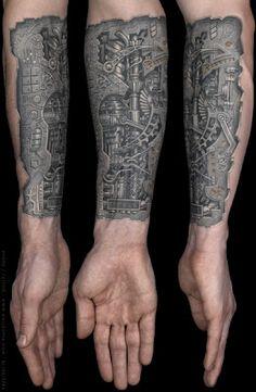 Robot arm tattoo design