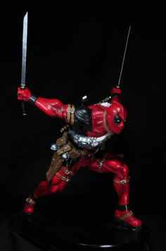 Deadpool 1 4 Scale 23 inches Custom Statue Resin Painted Hot Kit Xmen Toy For more X-Men stuff, check out: adamantiumclaws.com #deadpool #deadpooltoys #deadpoolfigures #deadpoolactionfigure #deadpoolactionfigure