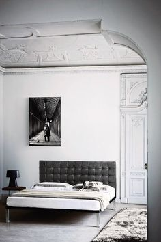 _take a pic of us and blow it up and hang it above the bed like this... change to black and white and silver room