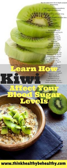 Learn How Kiwi Affect Your Blood Sugar Levels