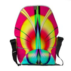 Like a Moth to a Flame Fractal Messenger Bags. $125.95