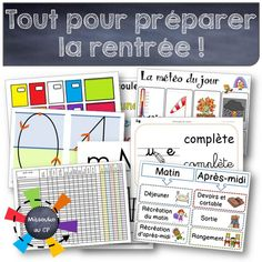 All for September - Back To School School Organisation, Classroom Organization, Classroom Management, School Teacher, Primary School, Elementary Schools, Primary Education, French Teacher, Teaching French