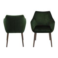 La chaise de salle à manger Uppsala est recouvert de tissu en couleur vert foncé. C'est chez Leen Bakker! Uppsala, Dining Chairs, Dining Room, Velvet, Studio, Interior, Furniture, Home Decor, Products