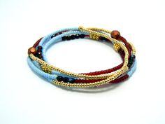 Multi wrap bracelet necklace anklet Czech seed bead by JewelRiot, $26.00