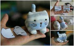 Un patron pour réaliser un chat mignon avec des chaussettes – Objets de décoration