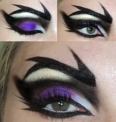 Maleficent inspired, maybe? by ~DesireeFFaria on deviantART Maleficent inspired, maybe? by ~DesireeFFaria on deviantART Witch Makeup, Halloween Eye Makeup, Halloween Eyes, Halloween Costumes, Halloween Halloween, Vintage Halloween, Maleficent Makeup, Maleficent Costume, Malificent