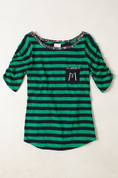 Monogrammed Pocket Tee - Anthropologie.com