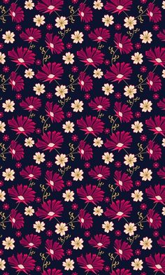 Black and magenta floral pattern Flowery Wallpaper, Flower Phone Wallpaper, Cute Wallpaper Backgrounds, Pretty Wallpapers, Flower Backgrounds, Cellphone Wallpaper, Colorful Wallpaper, Screen Wallpaper, Mobile Wallpaper