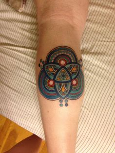 Colour Geometric Tattoo