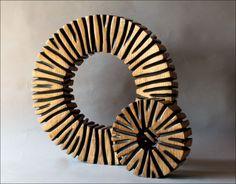 Deux anneaux bruns 50 et 25 cm