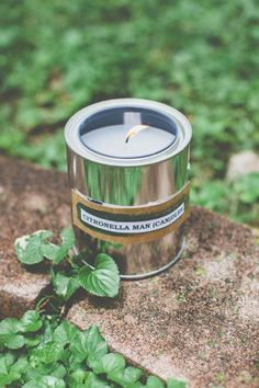 DIY Make citronella candles in paint cans