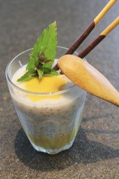 Mango & kokos & Chai Seeds? Tropische smaken vanuit verre paradijzen … een dessert van 1001 zaden met een gezonde twist.