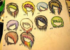 If only you could draw your hair and it'd magically be that way