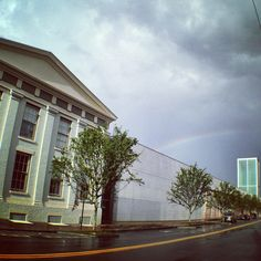 Rainbow over SCAD Museum of Art as captured by Roberto Vasquez this morning.
