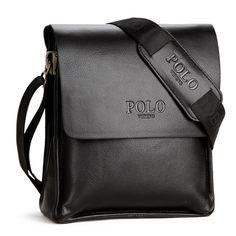 Marcas de polo hombres de la moda bolsos de la pu de cuero bolsos de mensajero bolsas cruz cuerpo bolsas crossbody