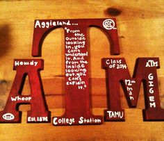 Easy A&M decor   *acryllic paint, brushes and Aggie traditions:)