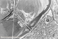 An aerial photograph of Barnstaple from North Devon, Exeter, Airplane View, Aircraft, Photograph, History, Painting, Photography, Aviation