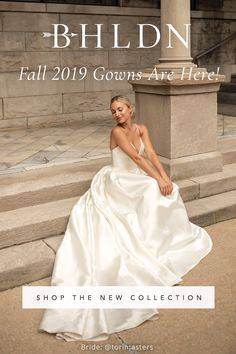 You've found the one, now it's time to find the gown. From modern to romantic to boho, new styles arrive for every bride—including designer gowns you'll only find at BHLDN! This Page for busy ladies that want it all in one p Fall Wedding Colors, Fall Wedding Dresses, Wedding Dress Styles, Bridal Dresses, Wedding Gowns, Backless Wedding, Autumn Wedding, Wedding Venue Inspiration, Wedding Ideas