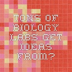 Tons of biology labs-get ideas from?