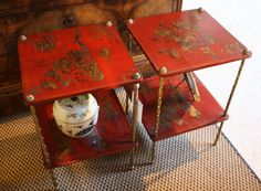 two-tier chinoiserie tables - Good Bones, Great Pieces
