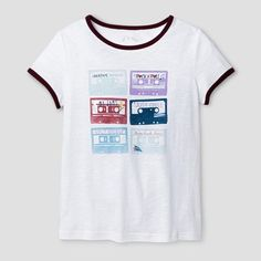 Girls' Graphic T-Shirt Art Class - Snowball White XL, Girl's