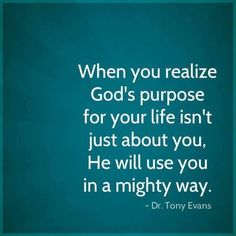 understand God's purpose for my life