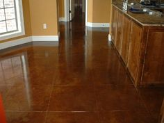 acid stained concrete floors - cola I'd love to have stained concrete floors throughout my house! One day, one day