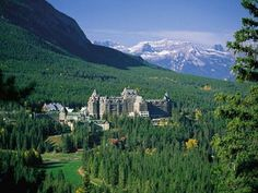 """""""Canada's Castle in the Rockies"""" Banff Fairmont"""