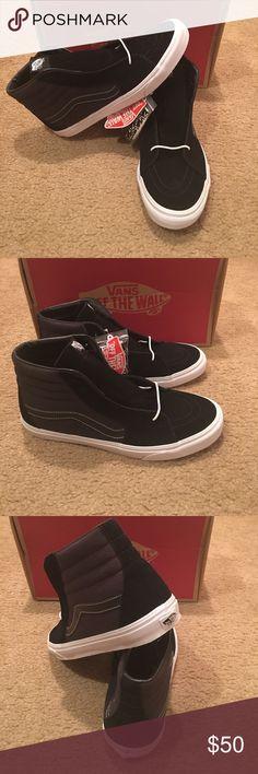 16aa96260c Labels Sk8Hi Reissue Vans New in box. Black True white Vans Shoes Sneakers  Awesome
