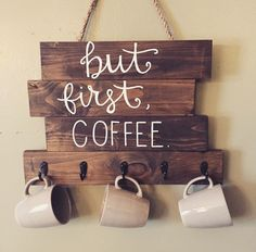 Coffee or tea cup wooden rack
