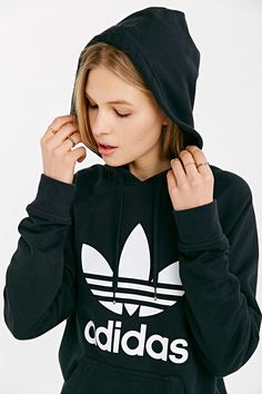 Black and White adidas hoodie